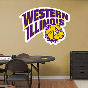 Western Illinois Leathernecks Logo Fathead Wall Decal